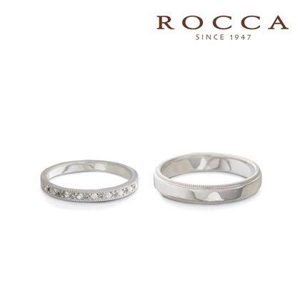 【ROCCA(ロッカ)】【ROCCA】さりげないミル打ちが可愛い!アンティークなマリッジリング