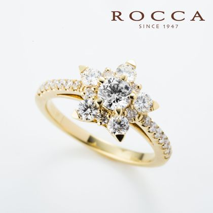【ROCCA(ロッカ)】【ROCCA】個性的なあなたに!輝く星のエンゲージリング