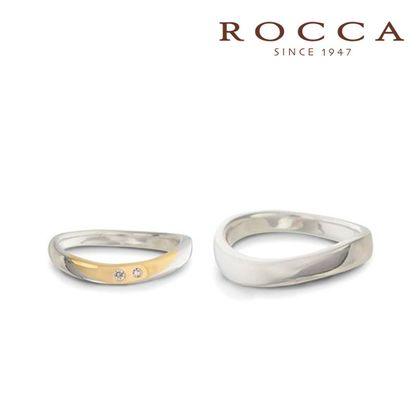 【ROCCA(ロッカ)】【ROCCA】コンビなので肌なじみ抜群!柔らかなS字のマリッジリング