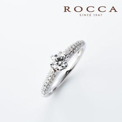 【ROCCA(ロッカ)】【ROCCA】パヴェをあしらったアームがおしゃれ!クールなエンゲージリング