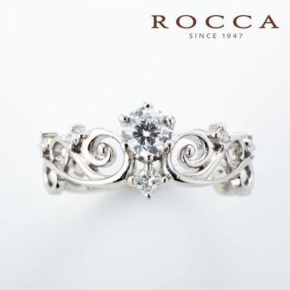 【ROCCA(ロッカ)】【ROCCA】透かしの模様が可愛い!ティアラのようなエンゲージリング