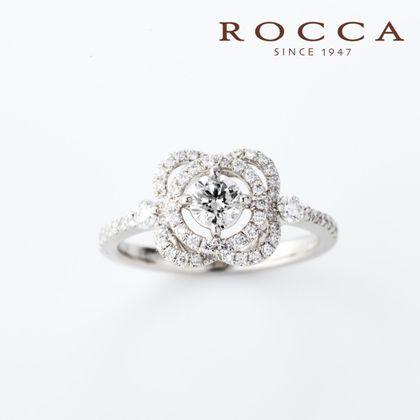 【ROCCA(ロッカ)】【ROCCA】お花のデザインが可愛い!華やかなエンゲージリング