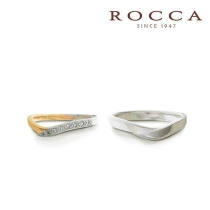 【ROCCA(ロッカ)】【ROCCA】コンビなので肌なじみ抜群、普段使いしやすいマリッジリング