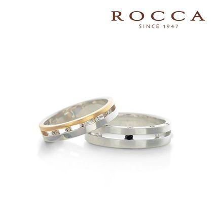 【ROCCA(ロッカ)】【ROCCA】透かしのデザインがおしゃれ!幅広のマリッジリング