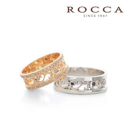 【ROCCA(ロッカ)】【ROCCA】唐草模様の透かしがおしゃれ!カジュアルマリッジリング