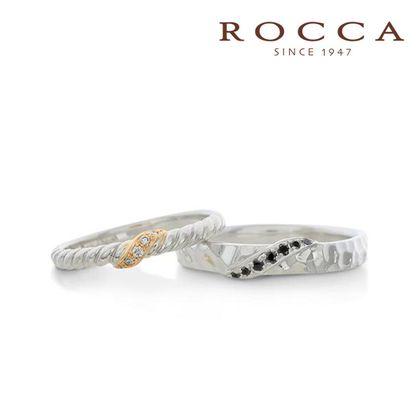 【ROCCA(ロッカ)】【ROCCA】コンビがおしゃれ!個性的なマリッジリング