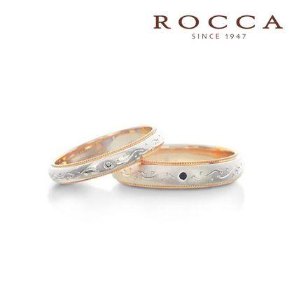 【ROCCA(ロッカ)】【ROCCA】好きな彫り模様に変更可能!和彫のマリッジリング