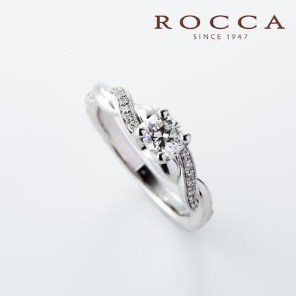 【ROCCA(ロッカ)】【ROCCA】編んだようなデザインがおしゃれ!ボリュームエンゲージリング