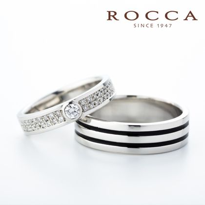 【ROCCA(ロッカ)】【ROCCA】ダイヤモンドが輝く!ボリュームマリッジリング
