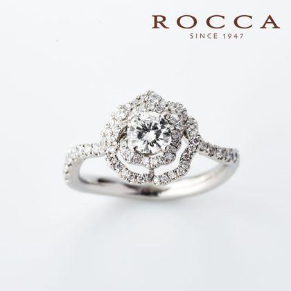 【ROCCA(ロッカ)】【ROCCA】お花のデザインが華やかなエンゲージリング