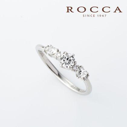 【ROCCA(ロッカ)】【ROCCA】さりげないハートのダイヤモンドが可愛いエンゲージリング