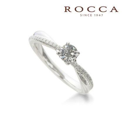 【ROCCA(ロッカ)】【ROCCA】シンプルだけどダイヤモンドを!人気のエンゲージリング