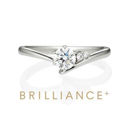 【BRILLIANCE+(ブリリアンスプラス)】PT900 エピ ダイヤモンド サイドストーン リング 0.3ct