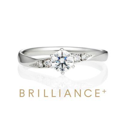 【BRILLIANCE+(ブリリアンスプラス)】PT900 バルケット ダイヤモンド サイドストーン リング 0.3ct