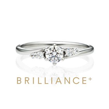 【BRILLIANCE+(ブリリアンスプラス)】PT900 ボレロ ダイヤモンド サイドストーン リング 0.3ct