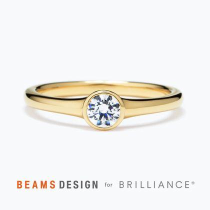 【BRILLIANCE+(ブリリアンスプラス)】★BEAMS DESIGN★リム ソリティア リング