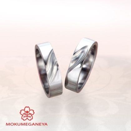 【BROOCH(ブローチ)】【杢目金屋】職人技が際立つ、木目金結婚指輪