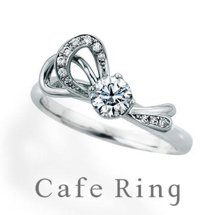 【BROOCH(ブローチ)】【ル・ルバン】ファション誌で人気!リボンモチーフの婚約指輪