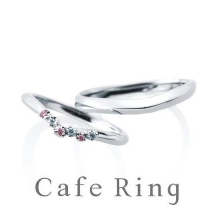 【BROOCH(ブローチ)】【ジャルダンドゥロゼ】ホワイトダイヤ・ピンクダイヤを爪留めした華やかリング