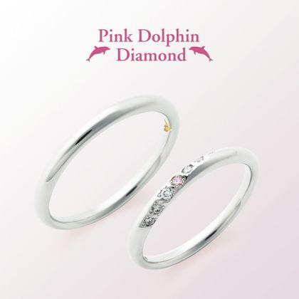 【ジュエリー東京】Pink Dolphin Diamond(ピンクドルフィンダイヤモンド) M's1308898/L's1308897