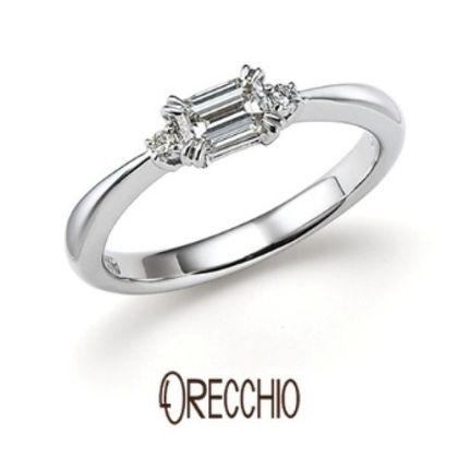 【VANillA(ヴァニラ)】<pipi>中心に向かって絞られたアームと両サイドのメレダイヤで華やかな婚約指輪