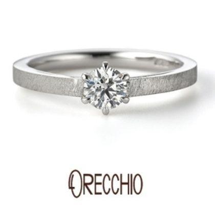 【VANillA(ヴァニラ)】アダージョ~オリジナルシルキー仕上げでマットでシンプルな婚約指輪