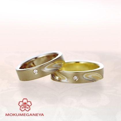 【VANillA(ヴァニラ)】【杢目金屋】職人技が際立つ、木目金結婚指輪