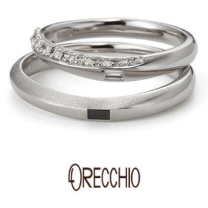 【VANillA(ヴァニラ)】サンダルウッド~緩やかな曲線にダイヤモンドや仕上げでアクセントを付けた結婚指輪