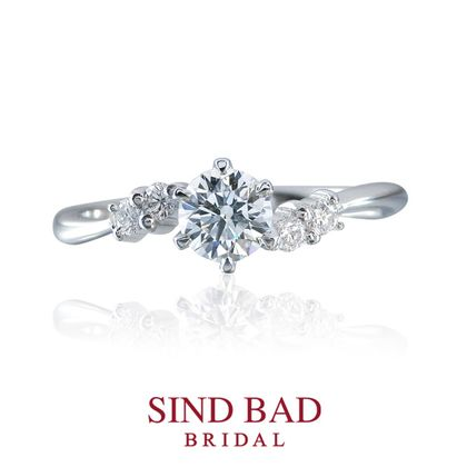 【SIND BAD(シンドバット)】婚約指輪【連理(れんり)】ふたつのココロがひとつになる