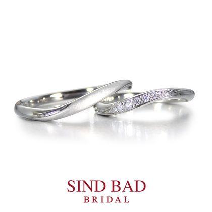 【SIND BAD(シンドバット)】結婚指輪【琉川 るかわ】7石のダイヤモンドとマット加工の対照的なハーモニー