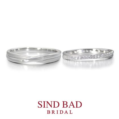 【SIND BAD(シンドバット)】結婚指輪【彩織(あや)】幸せが織なす結婚指輪