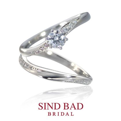 【SIND BAD(シンドバット)】婚約指輪【 咲蕾(さら)】&結婚指輪【永遠(とわ)】