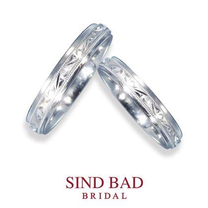 【SIND BAD(シンドバット)】結婚指輪 彫り模様の結婚指輪【唐草】和彫り 職人による手彫り