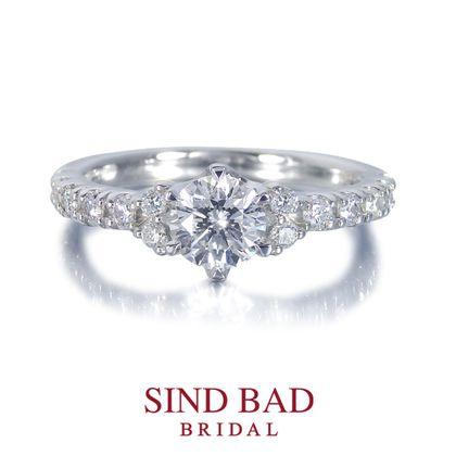 【SIND BAD(シンドバット)】婚約指輪【泉(いずみ)】尽きることのない光の奔流を湛えて