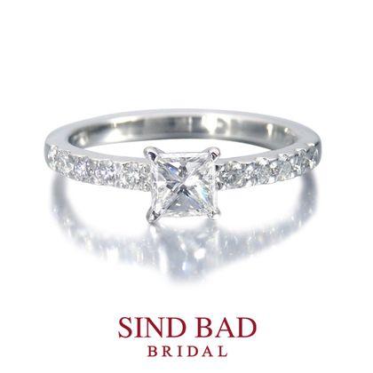 【SIND BAD(シンドバット)】婚約指輪【懿(うるわし)】プリンセスカットの華と気品
