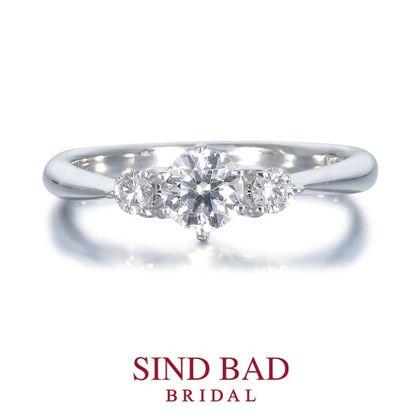 【SIND BAD(シンドバット)】婚約指輪【朝水(あさみ)】朝露を湛えた新緑の光