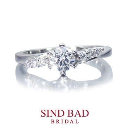【SIND BAD(シンドバット)】婚約指輪【廻(めぐる)】この広い宇宙で出会えたふたりの奇跡に