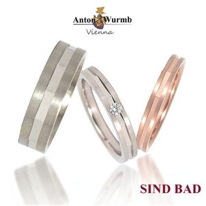 【SIND BAD(シンドバット)】鍛造の結婚指輪 ~ミラーカットのマリッジリング~