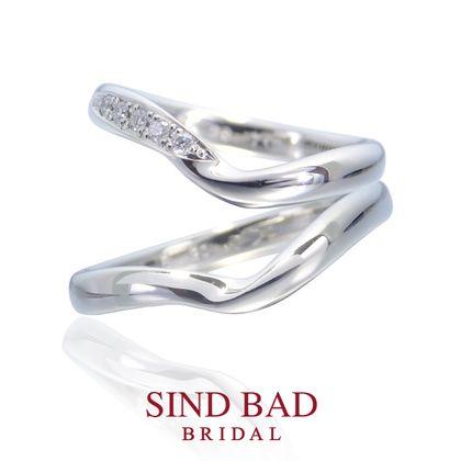 【SIND BAD(シンドバット)】結婚指輪【美星 りせ】オーダーメイドできるはっきりとしたVラインのマリッジリング
