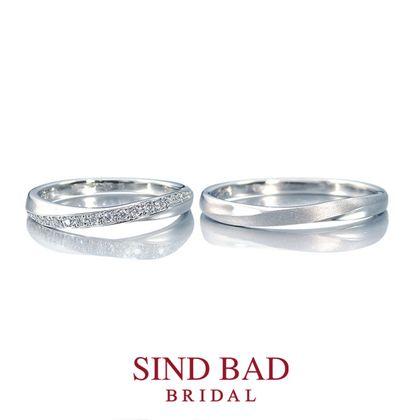 【SIND BAD(シンドバット)】結婚指輪【月虹(げっこう)】夜の月明かりから生まれた約束のしるし