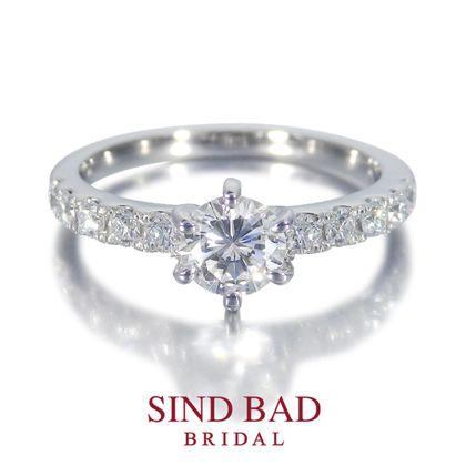 【SIND BAD(シンドバット)】婚約指輪【星連徠(せれな)】未来へ連なる星々の輝き