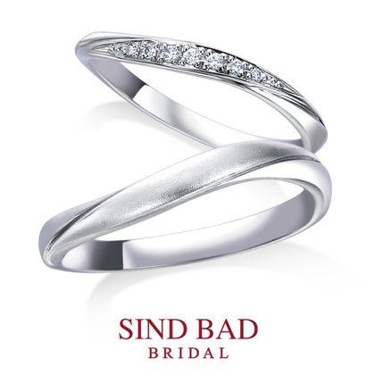 【SIND BAD(シンドバット)】結婚指輪【琉川 るかわ】7石のダイヤとマット加工の対照的なハーモニー 幅2mm&幅2.8mm