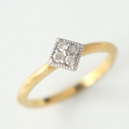 【Fuligoshed(フーリゴシェド)】SQUARE PAVE RING -HOLIC-