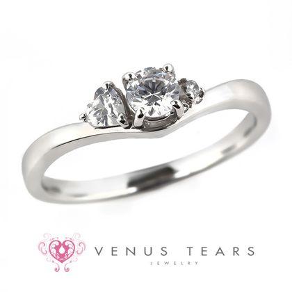 【VENUS TEARS(ヴィーナスティアーズ)】0.2ctダイヤ込価格Pt900【FES34-02】