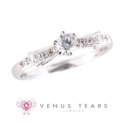 【VENUS TEARS(ヴィーナスティアーズ)】0.2ctダイヤ込価格Pt900【SSNCE20-02】