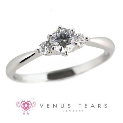 【VENUS TEARS(ヴィーナスティアーズ)】0.3ctダイヤ込価格Pt900【P461-03】