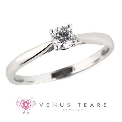 【VENUS TEARS(ヴィーナスティアーズ)】0.2ctダイヤ込価格Pt900【ForeRosesEG-02】