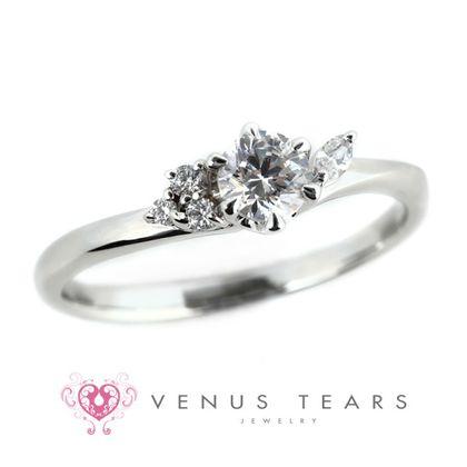 【VENUS TEARS(ヴィーナスティアーズ)】0.3ctダイヤ込価格Pt900【ALE6-03】