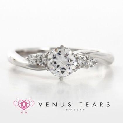 【VENUS TEARS(ヴィーナスティアーズ)】0.5ctダイヤ込価格Pt900【P572-05】