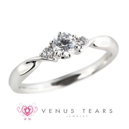 【VENUS TEARS(ヴィーナスティアーズ)】0.3ctダイヤ込価格Pt900【P968-03】